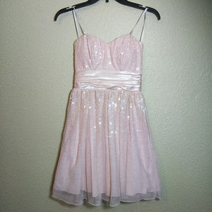 Speechless size 3 Juniors Prom Pink Sparkle Dress